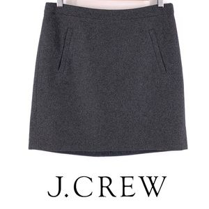 J. Crew Gray Wool Blend Mini Skirt